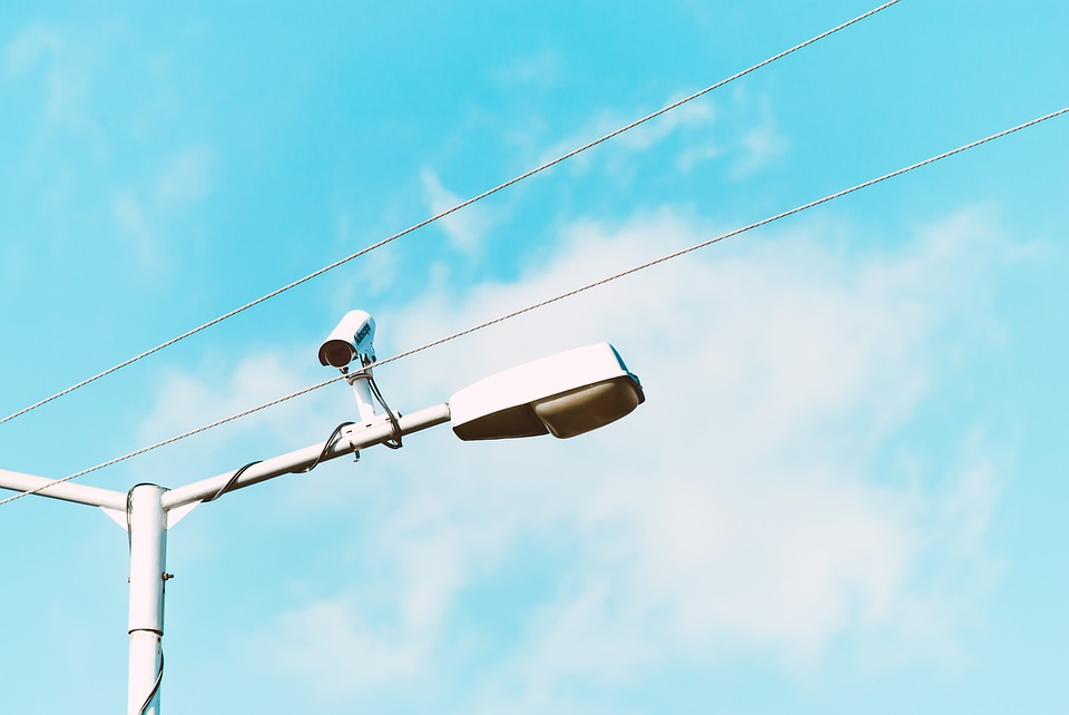 An example of an exterior CCTV camera.