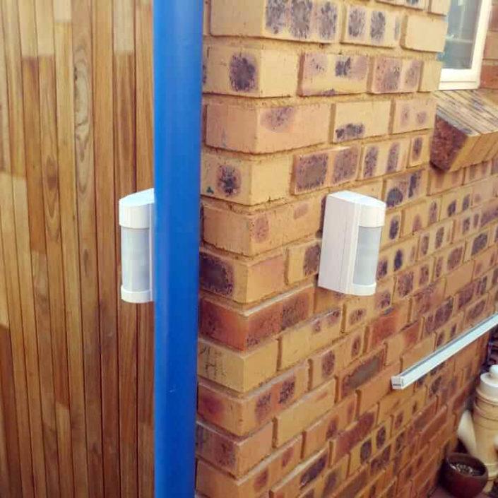 sensors and beams/access control